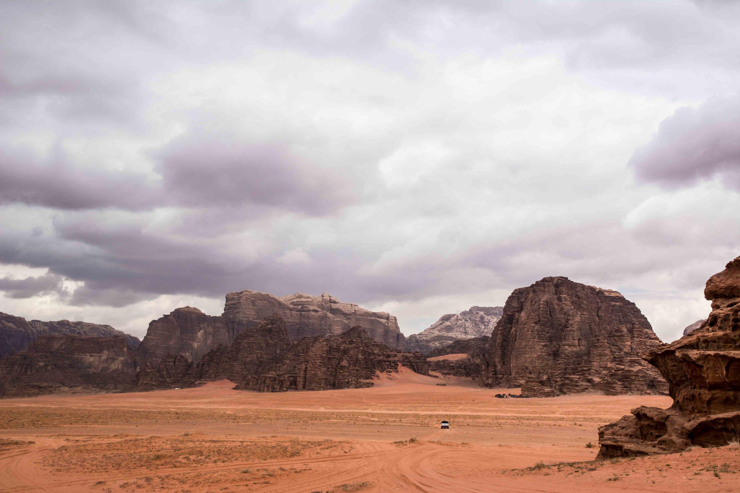 The desert of Wadi Rum in Jordan