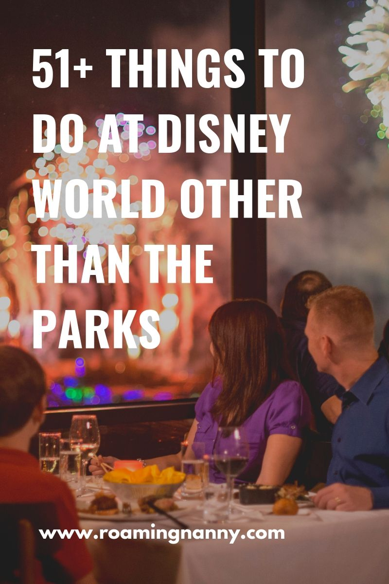 51+ Things to do at Walt Disney World. [other than the Parks] With so much to do how will you choose? #wdw #disneyworld #waltdisneyworld #disney
