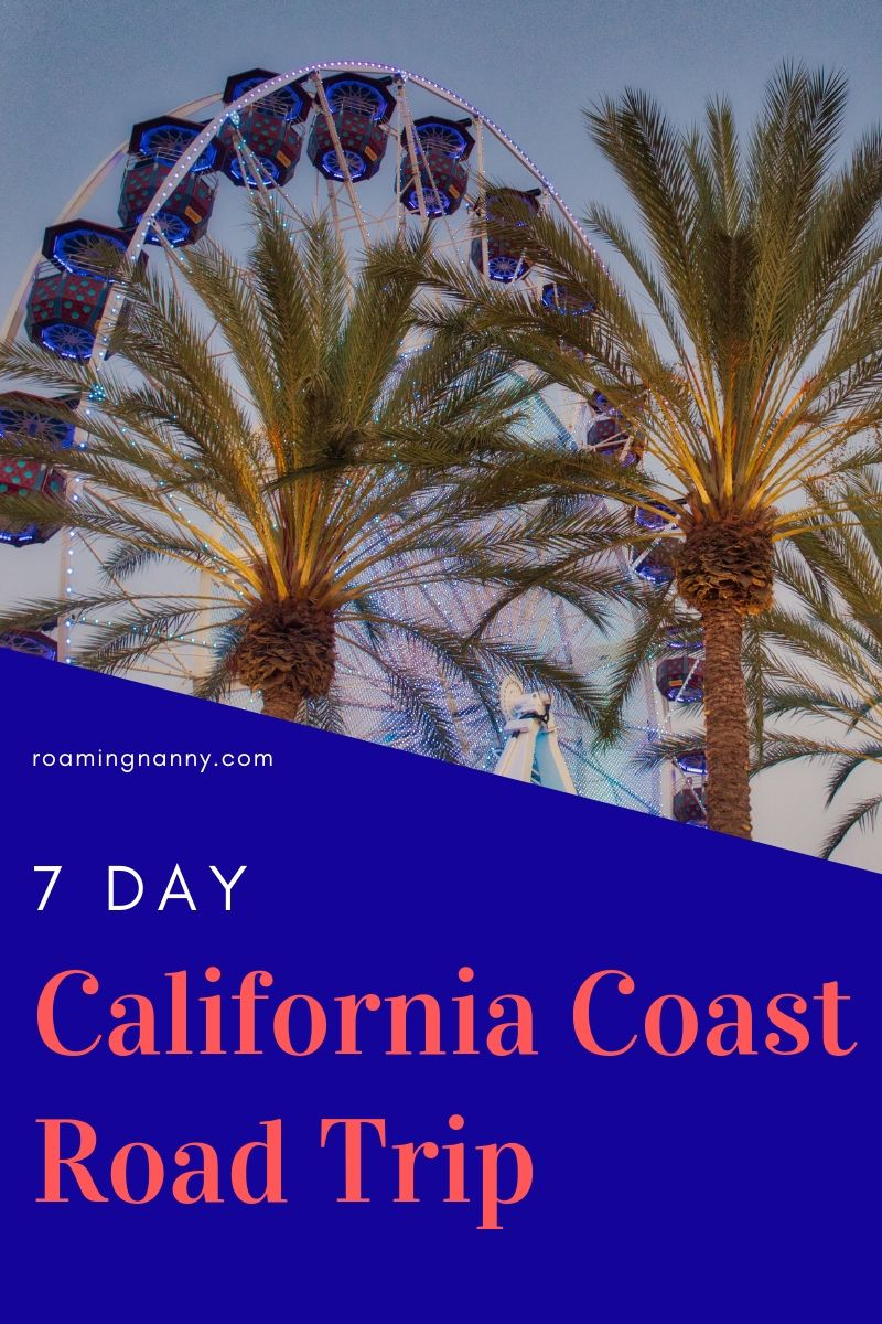 One of the most iconic road trips in the United States is driving route 1 on the California Coast. Here is a 7 day itinerary full of fun and adventure in the Golden State. #california #roadtrip #goldenstate #californiacoast #route1 #visitcalifornia