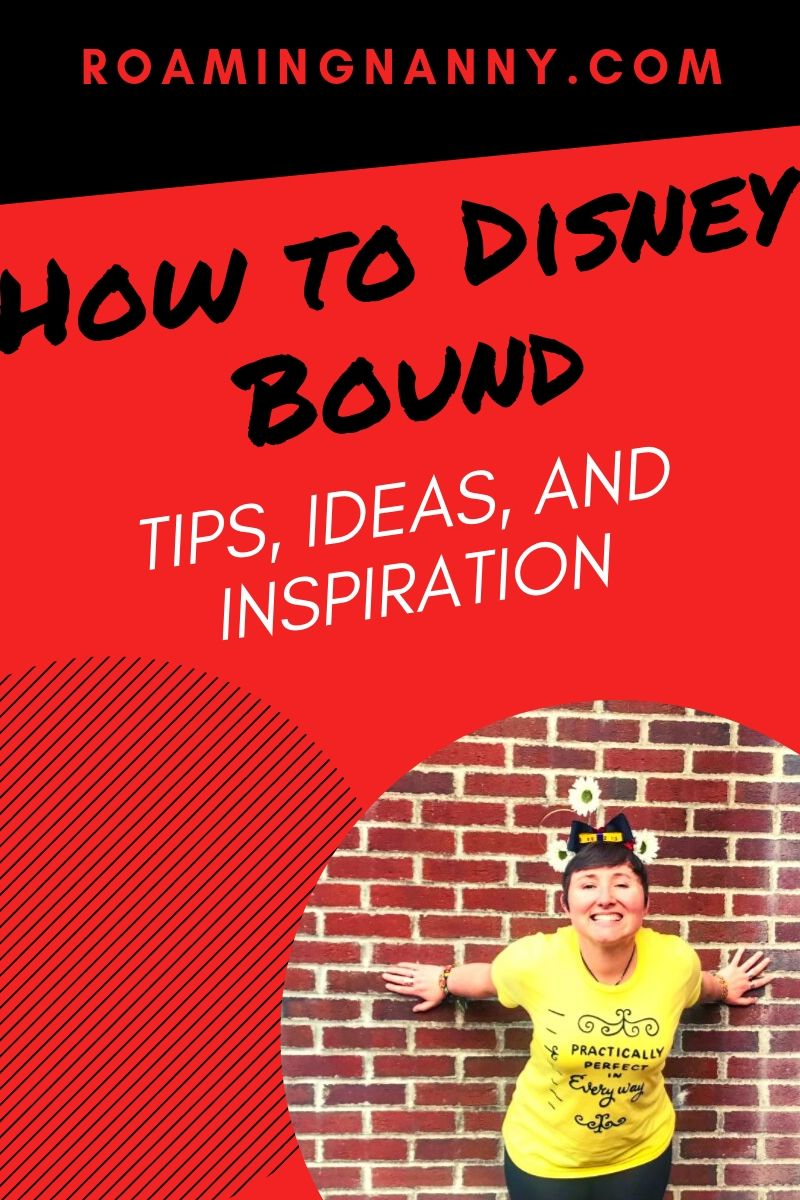 Disneybounding is a fun way for Disney fans to dress as their favorite characters. Here are some tips on how to Disneybound with a bit of inspiration for outfits. #disney #disneybound #disneybounding #disneyparks #disneycharacters