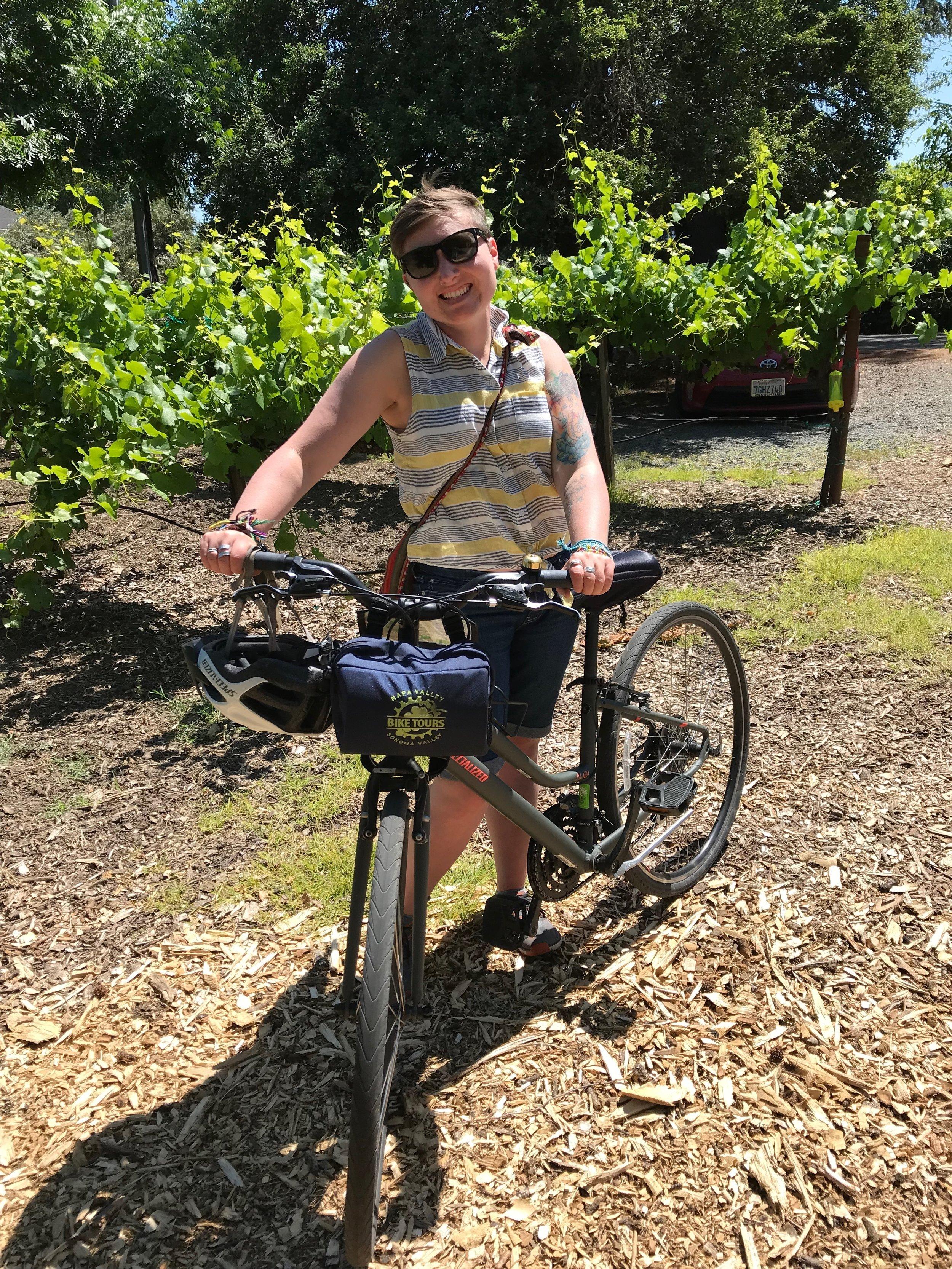 biking in napa