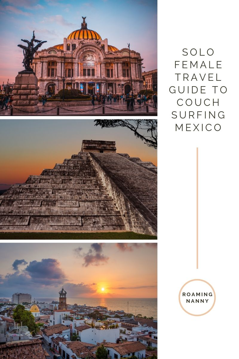 Learn how to Couchsurf your way through Mexico as a solo female traveler spending next to nothing on accomedations. #couchsurfing #couchsurf #solofemaletravel #mexico #visitmexico
