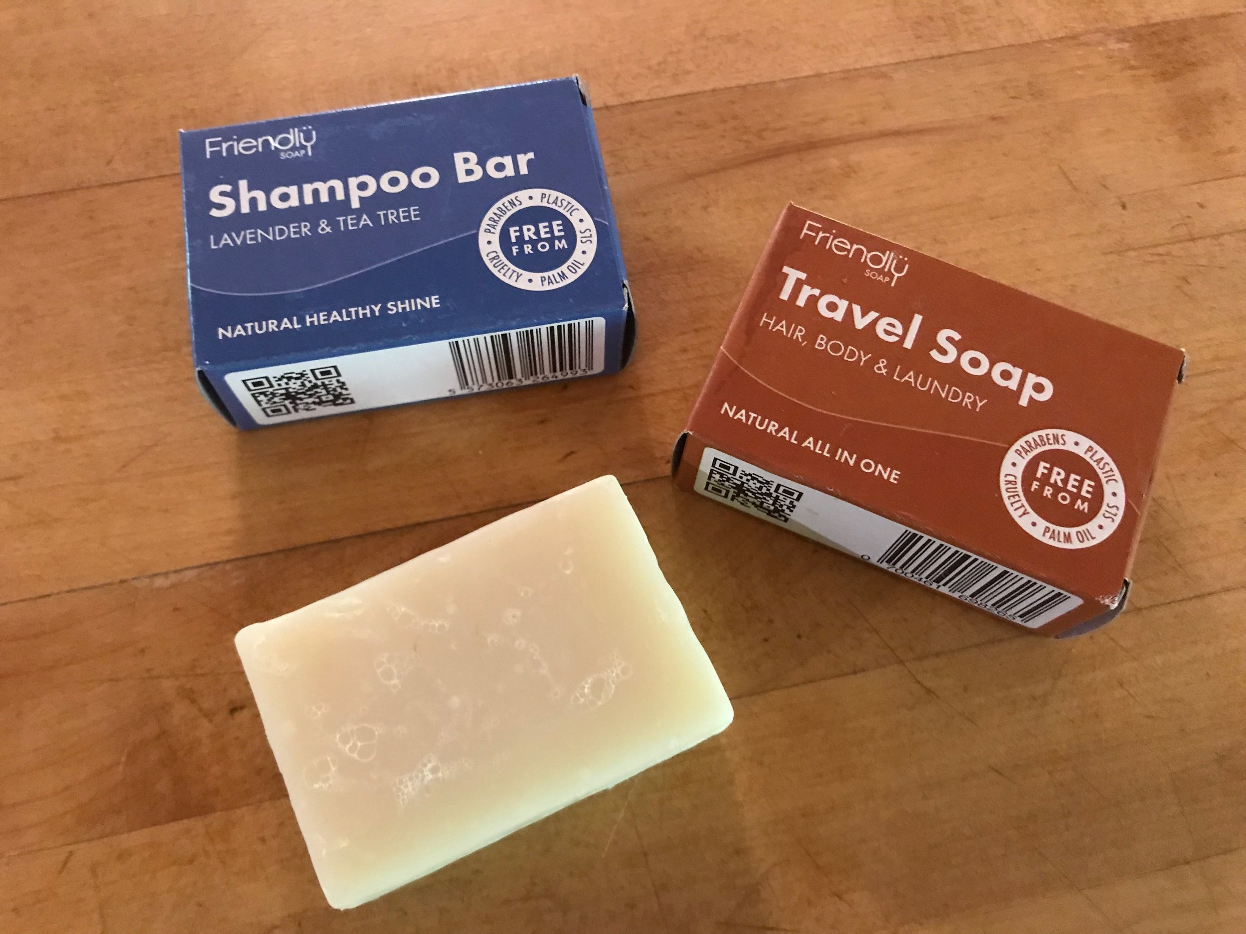 green travel shampoo bars