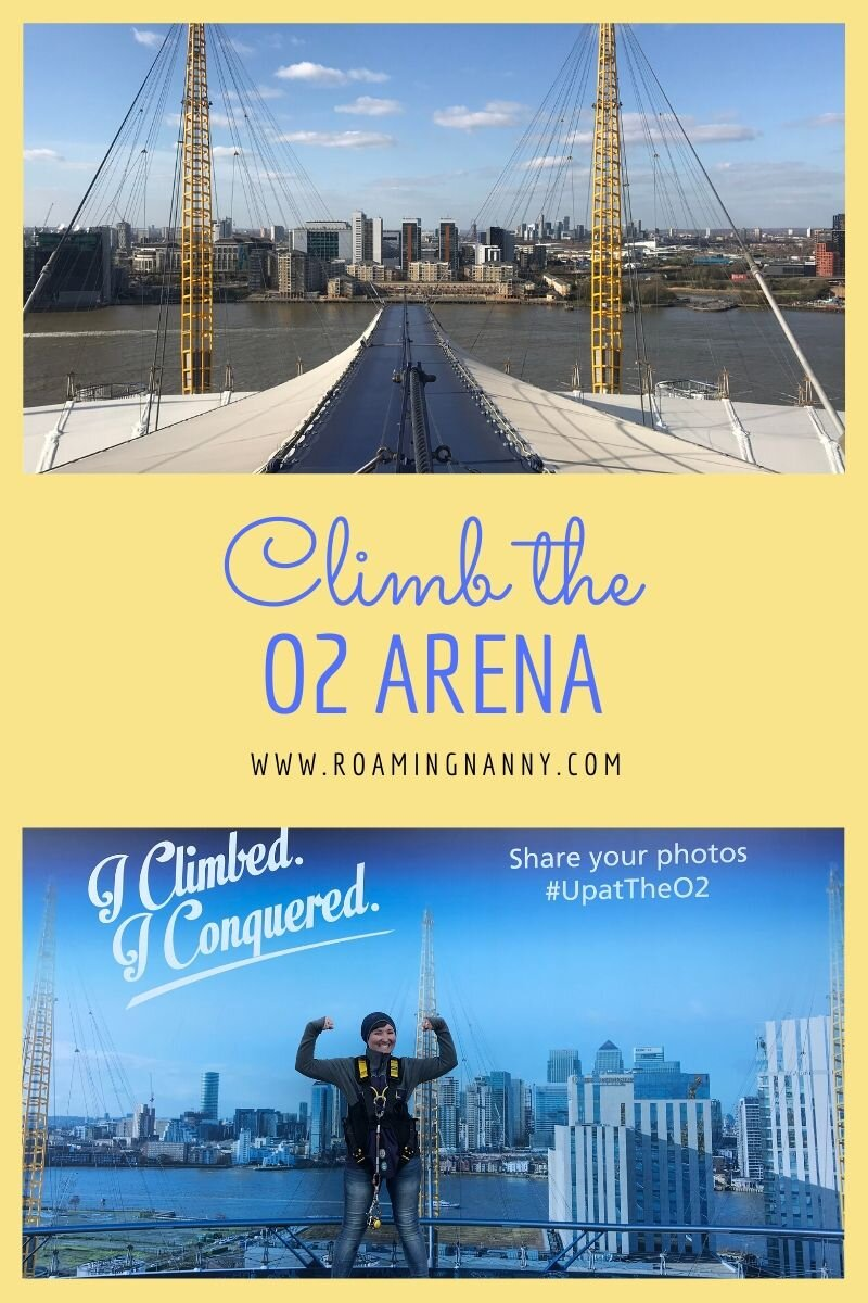 Looking for a bit of Adventure in London? Strap on a harness and climb the O2 Arena for an epic view of this legendary city. #london #visitlondon #o2arena #upattheo2 #climbtheo2 #adventure
