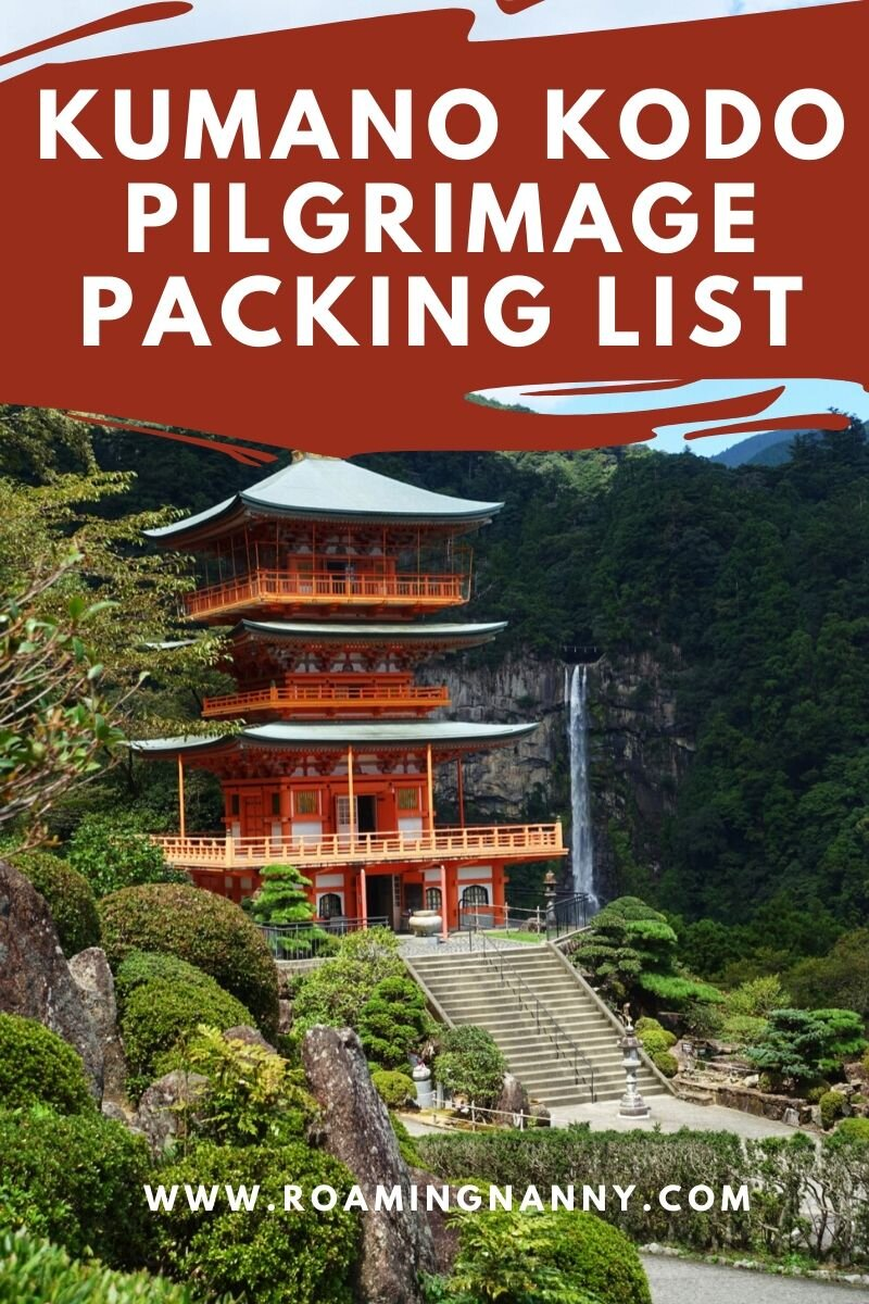 A packing list of everything you need to bring for your adventure on the Kumano Kodo Pilgrimage. #pilgrimage #japan #hikejapan #kumanokdo