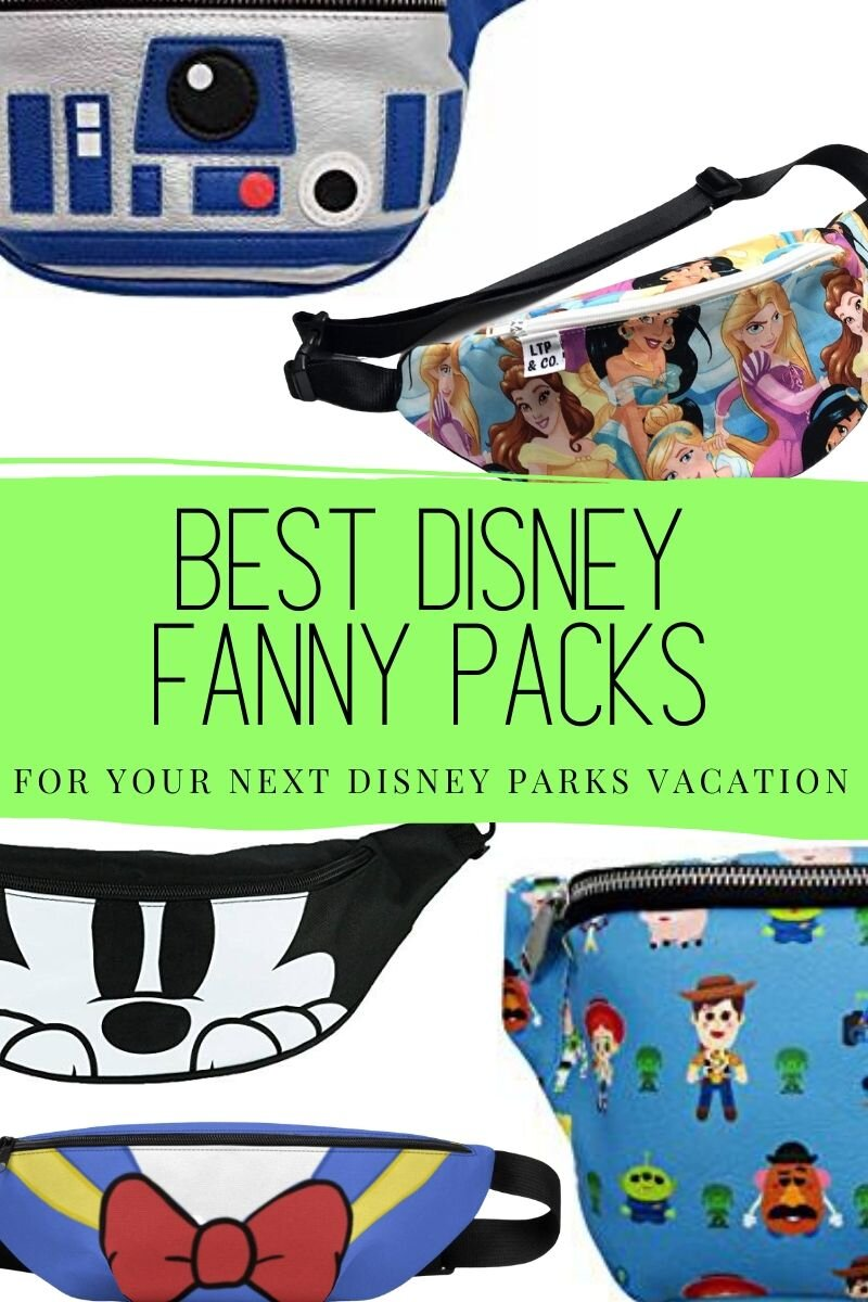 Fanny packs are great for theme parks! Check out these awesome Disney fanny packs for your next Disney Parks vacation. #disney #wdw #disneyland #disneyfannypack #fannypack