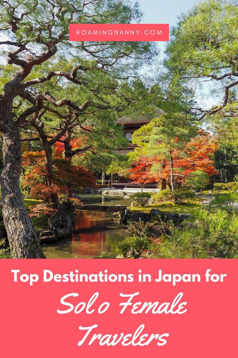 Form Temples to amazing food to breathtaking nature Japan is one of the best countries for solo female travel. Here are the top destinations in Japan according to a group of female travel bloggers. #japan #topdestinationsinjapan #visitjapan #solofemaletravel #solotraveljapan