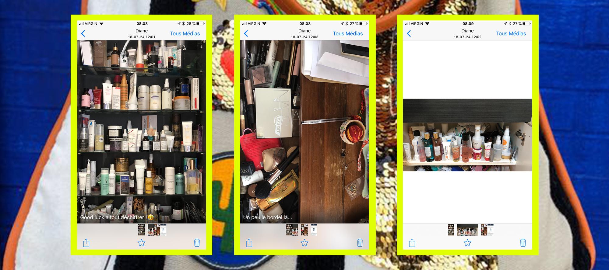 screen shot phone of diane goldstein