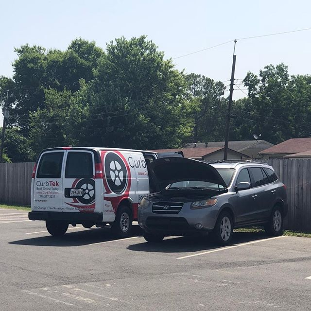 Driving through the neighborhood and see our van? 👀 Look us up and see what we can do for you! 📞 Book today and we can be out in no time! 🚘 #CurbTek #mobileoilchange