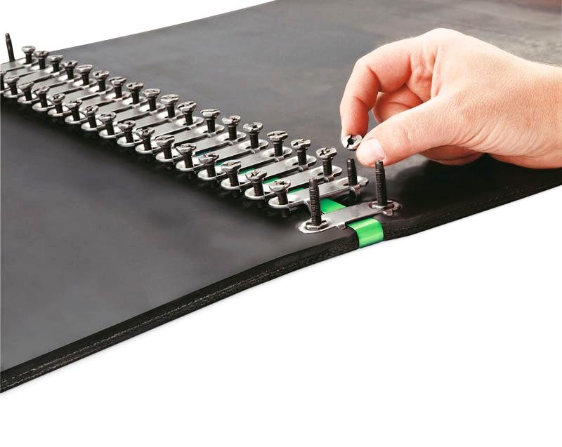 Belt & Accessories - Thermoplastic Heavy DutyLight DutyRough-TopInclineFlexco Brand ProductsInternal Drive PulleysBelt VulcanizationLagging Installation