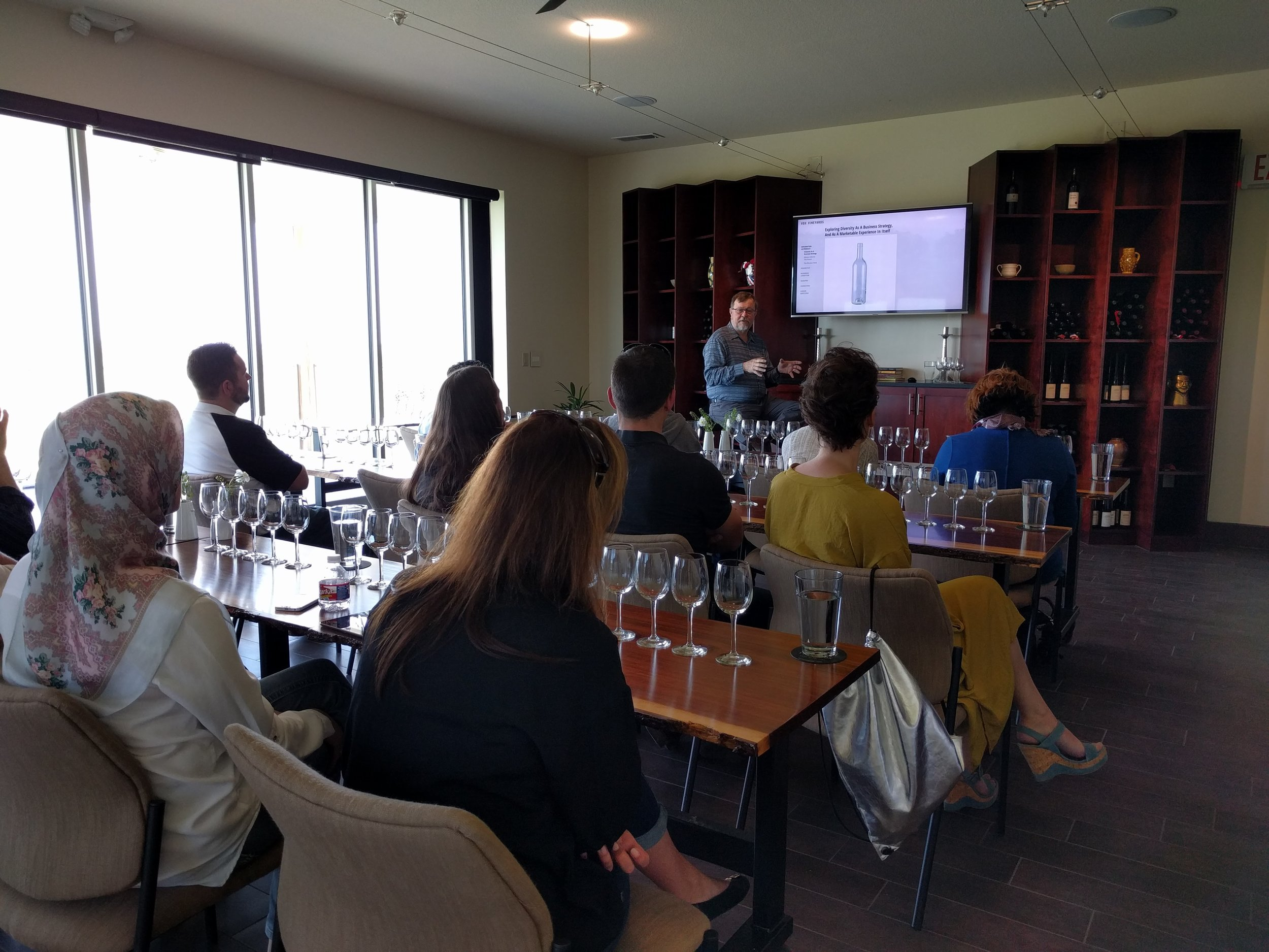Educational - Learn about our vinicultural project, wine 101, and food pairing.