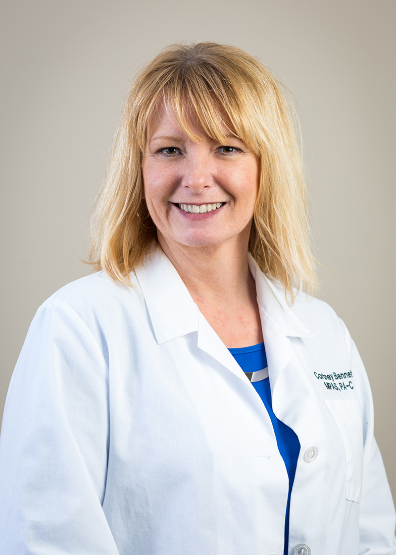 Cortney Bennett,  PA-C, MPAS   Cortney is a certified physician assistant. She obtained her Bachelor's Degree from Penn College and her Master's Degree from the University of Nebraska.