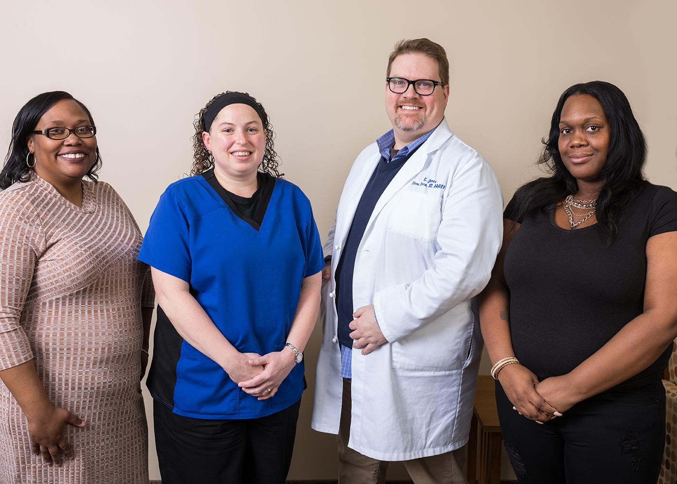 Kiecha Robinson, Allison Carte, Dr. James Dom Dera, and Sha'quanna Hooks