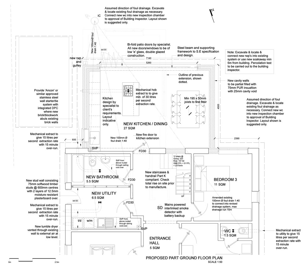 Stage 3: Building Regulations & Preparing to Build - Developed design and details, structural design & calculations*Material and construction method finalisationTechnical details and site specific problem solvingBuilding Regulations Submission and liaison with Building Control department(fixed fee)*structural design is subject to consultant and liaison with a 3rd party structural engineer - we can recommend an engineer we work with closely or can work with your preferred engineer.