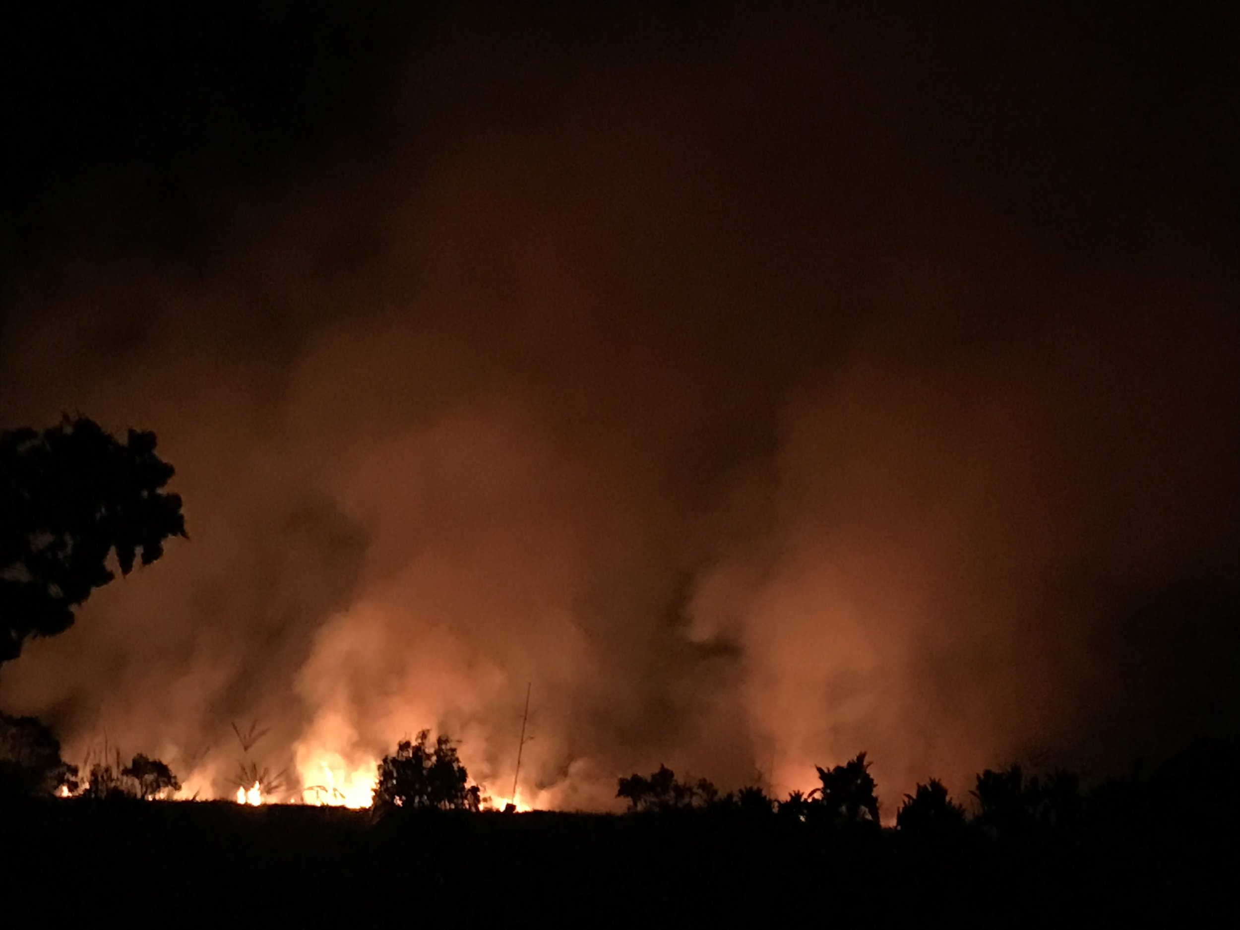 Fire on one of the farms