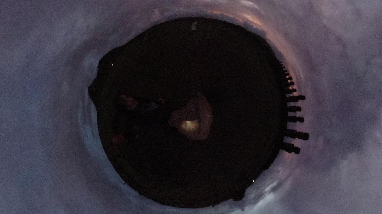 Screenshot of 360º photo of Sunrise at Moai at Ahu Tongariki