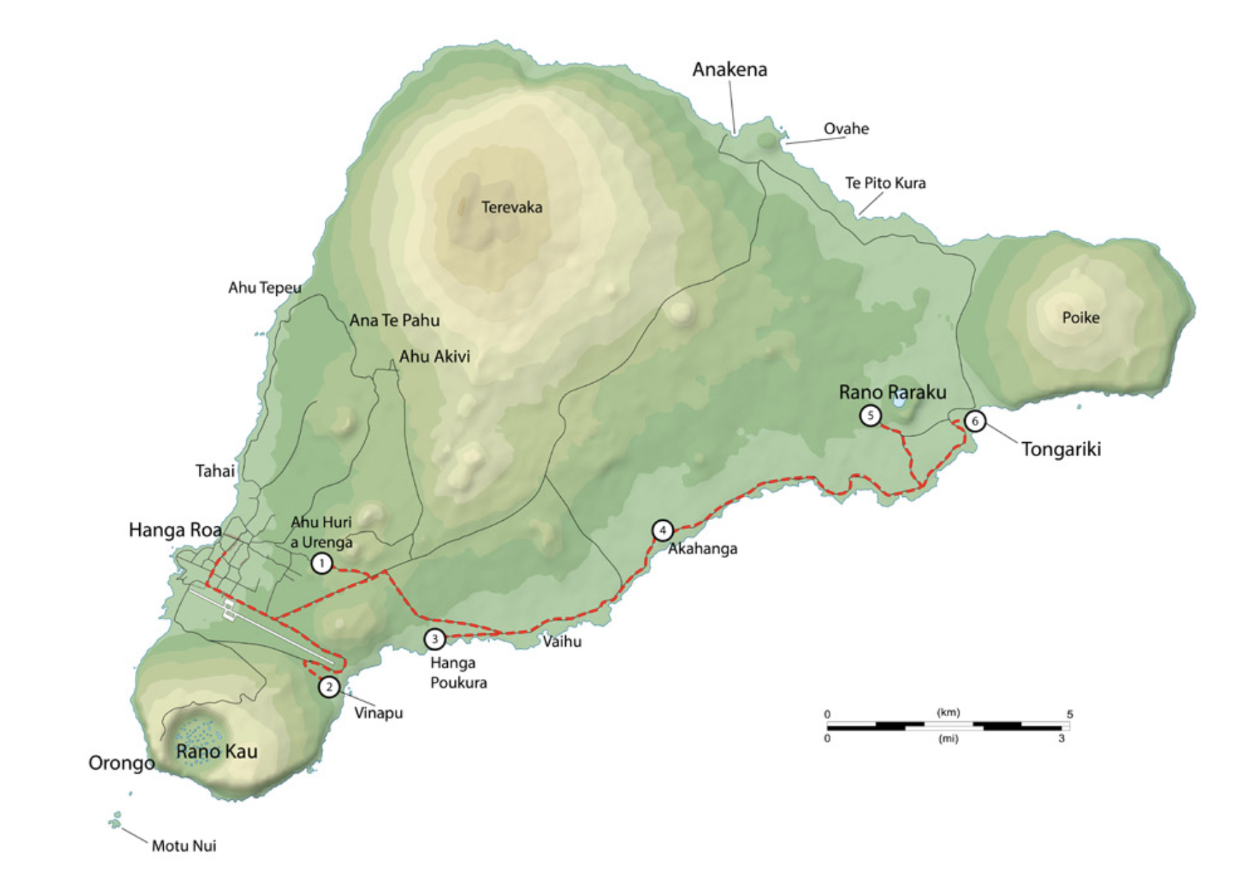 Map of tour route 2