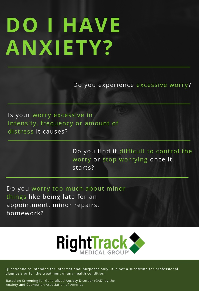 This is a screening measure to help you determine whether you might have anxiety that needs professional attention. This screening tool is not designed to make a diagnosis of anxiety but to be shared with your primary care physician or mental health professional to inform further conversations about diagnosis and treatment.