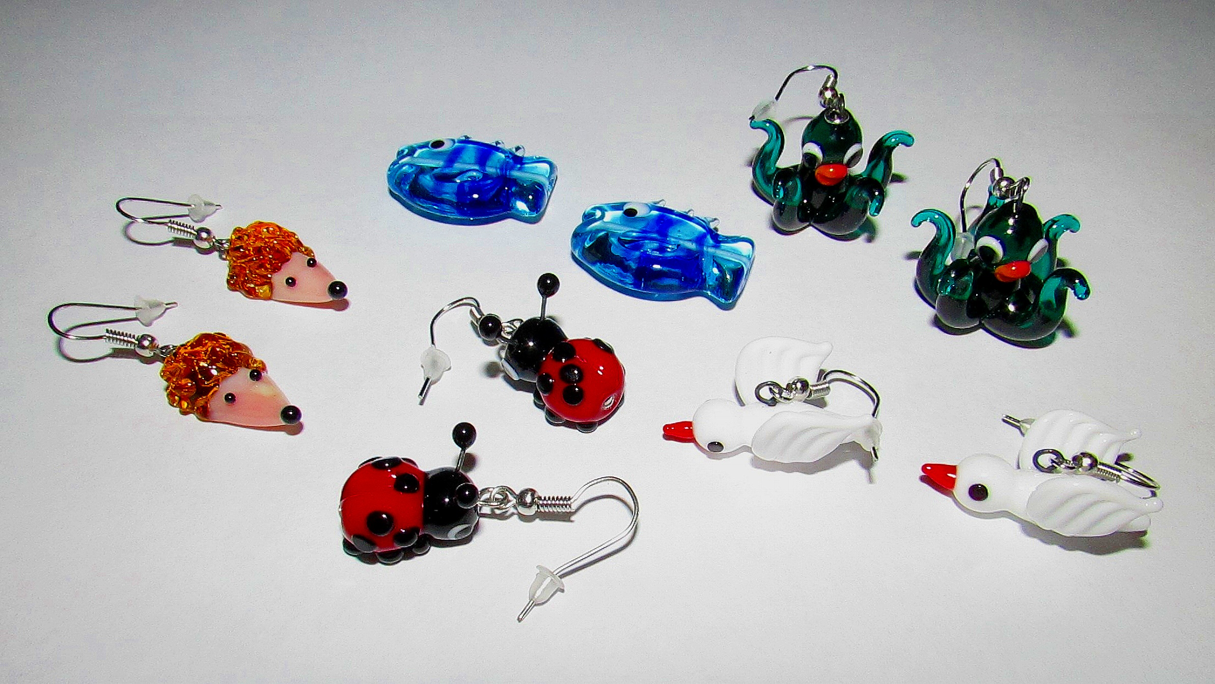 Hand Sculpted Glass Jewellery -