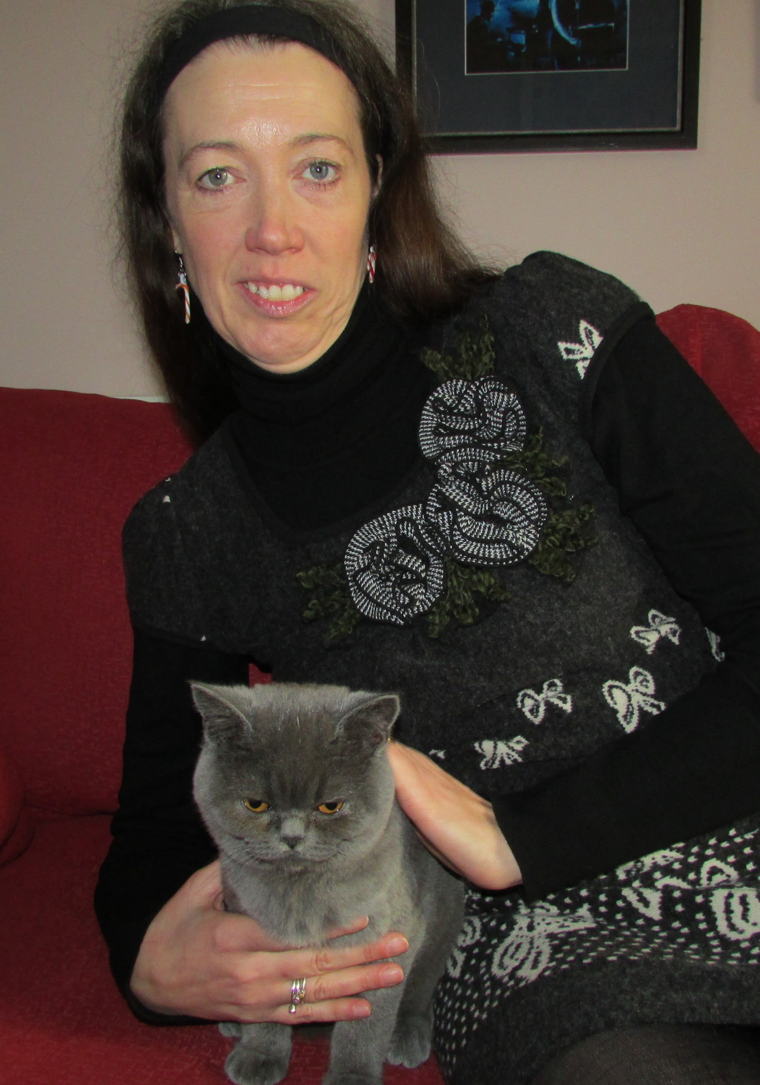 Myself and Bessie, our CEO (Cat executive officer) -