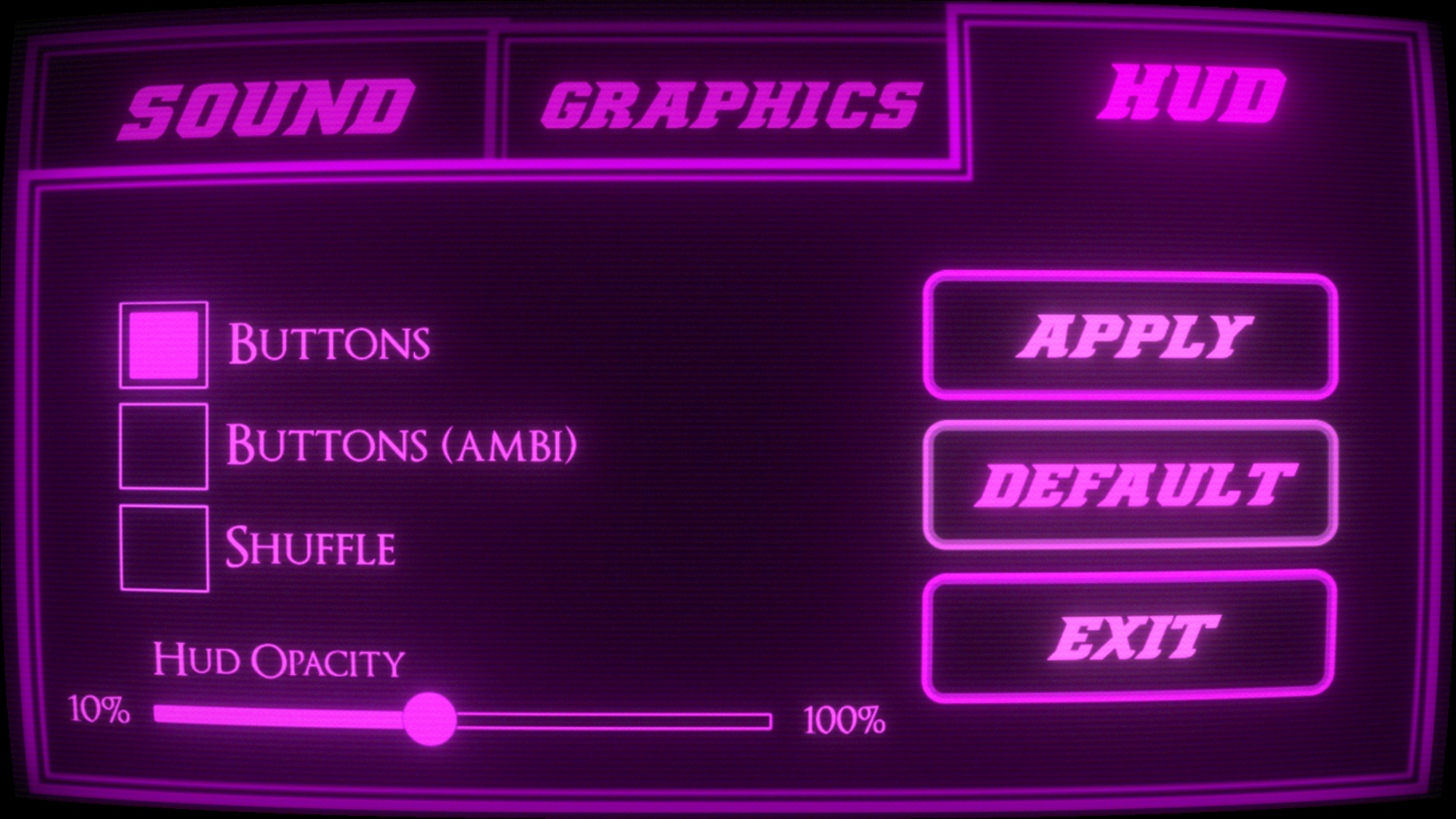 Sexy new settings menu. Please hold your applause.