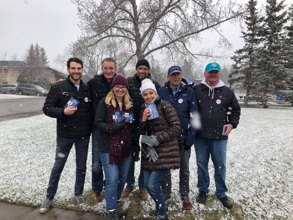 And the campaign to win Calgary Centre in October is now officially underway. Our team started doorknocking on Saturday May 4 - a bit of unusual weather but spirits were not dampened!