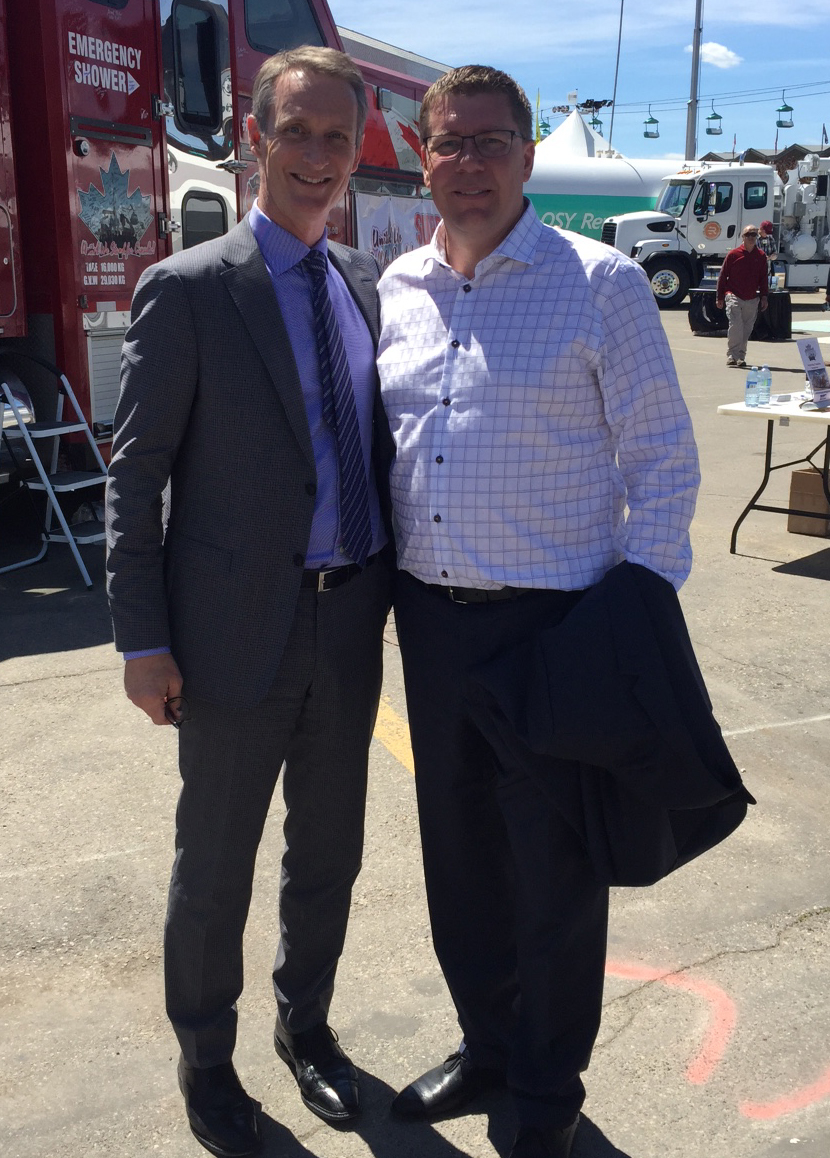 With Premier Scott Moe of Saskatchewan.