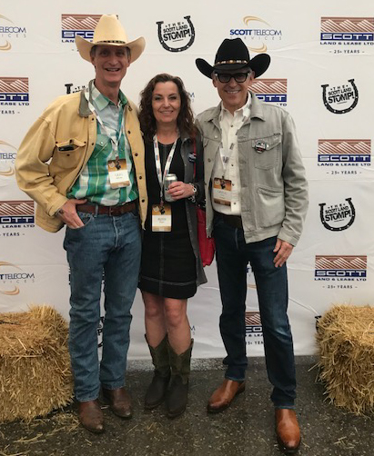 The best way to kick off Stampede -- with Gregg Scott at the Scott Stomp. Thanks for hosting Ruth and me.