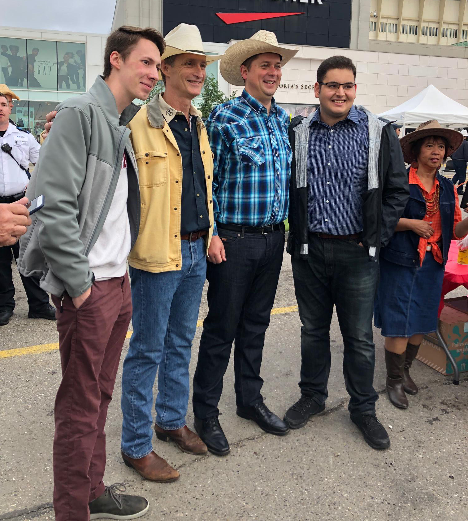We met some folks as we travelled around to Stampede events today.