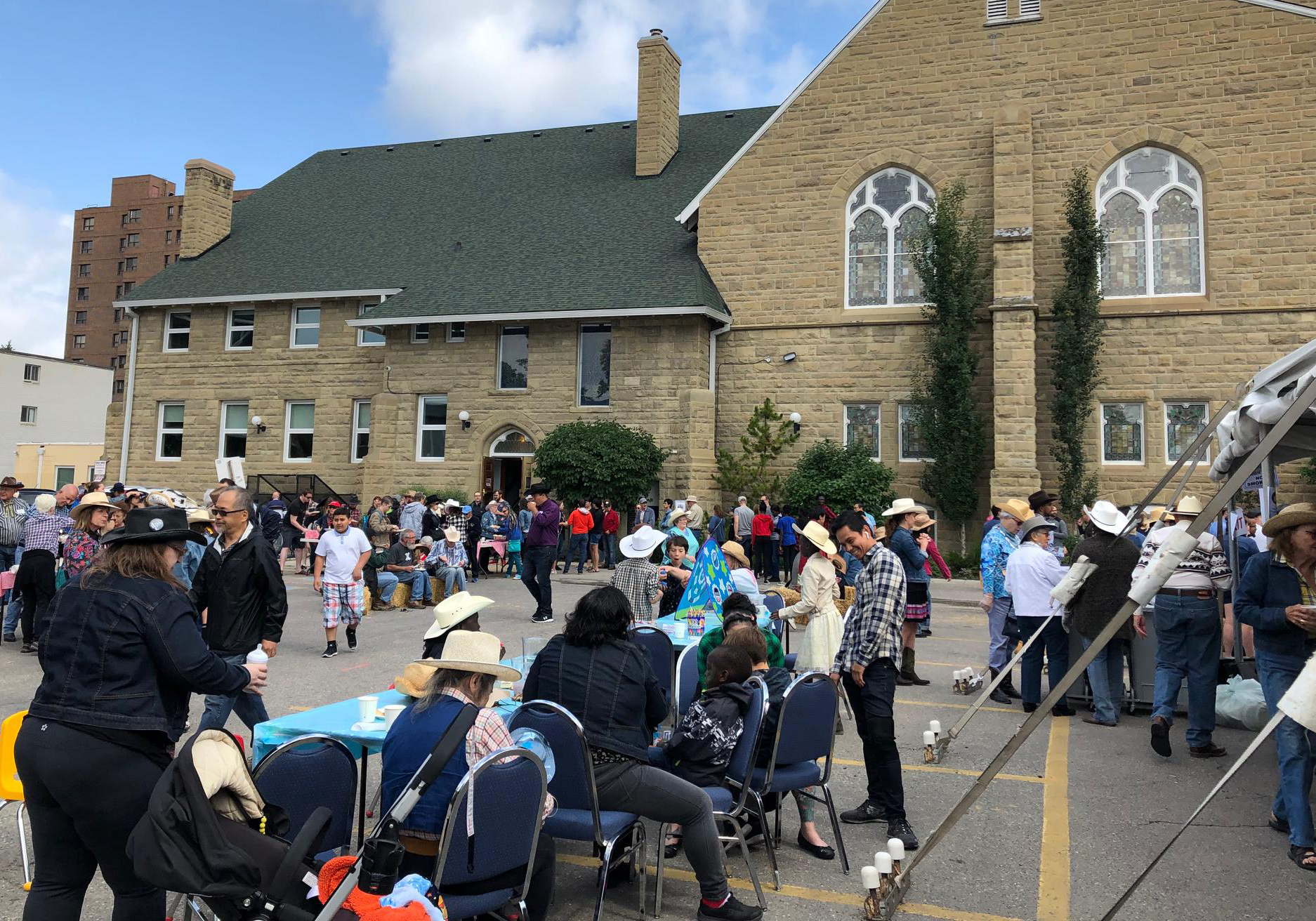 "The iconic Grace Presbyterian Church in Beltline held a ""No Sermon, Just Syrup"" breakfast on Sunday morning."