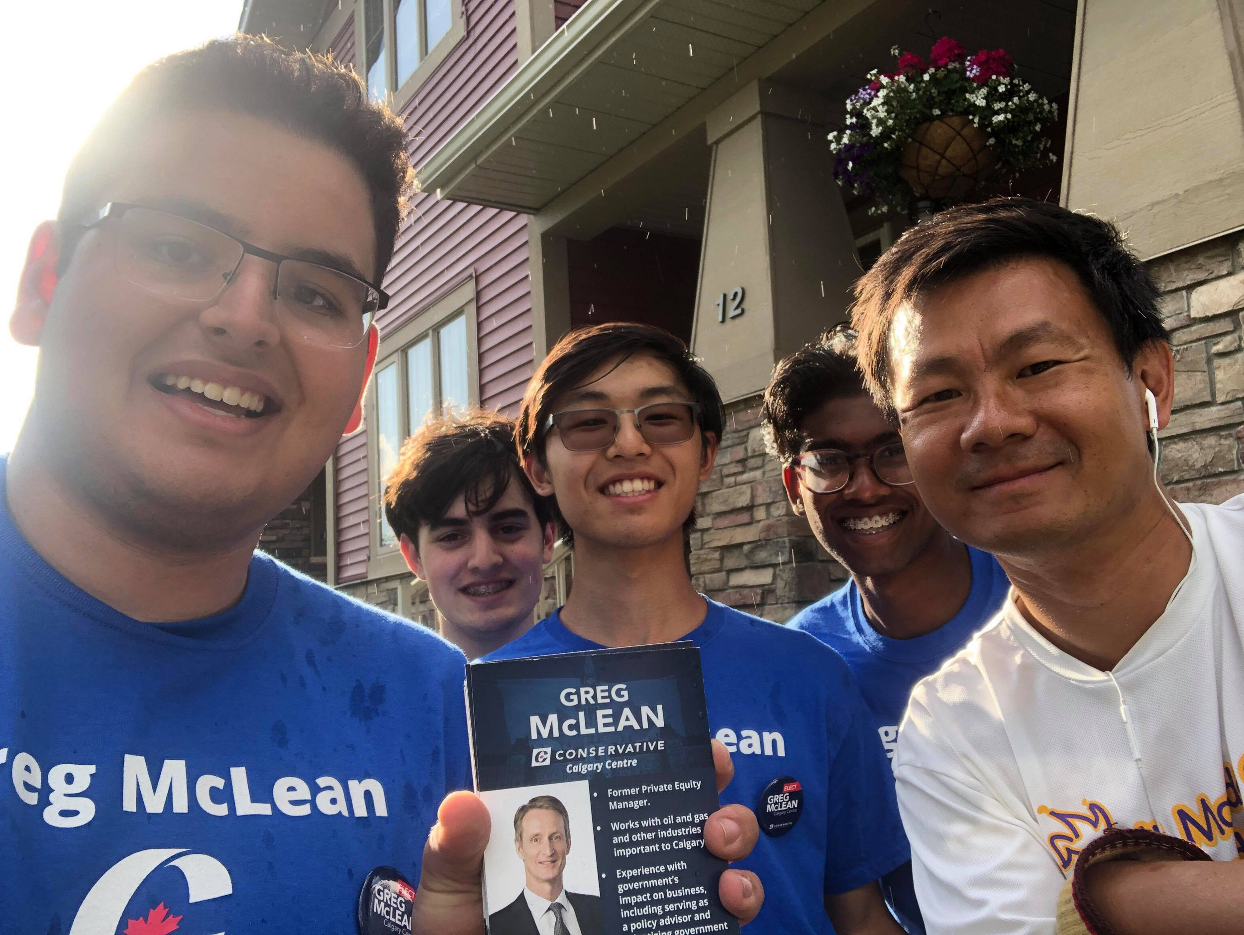 Stampede is over and my team is back knocking on doors in Calgary Centre. If they knock on your door, please let them know if you support me!