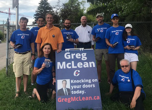 The team was out doorknocking Monday July 22 on a glorious summer's evening in Marda Loop.