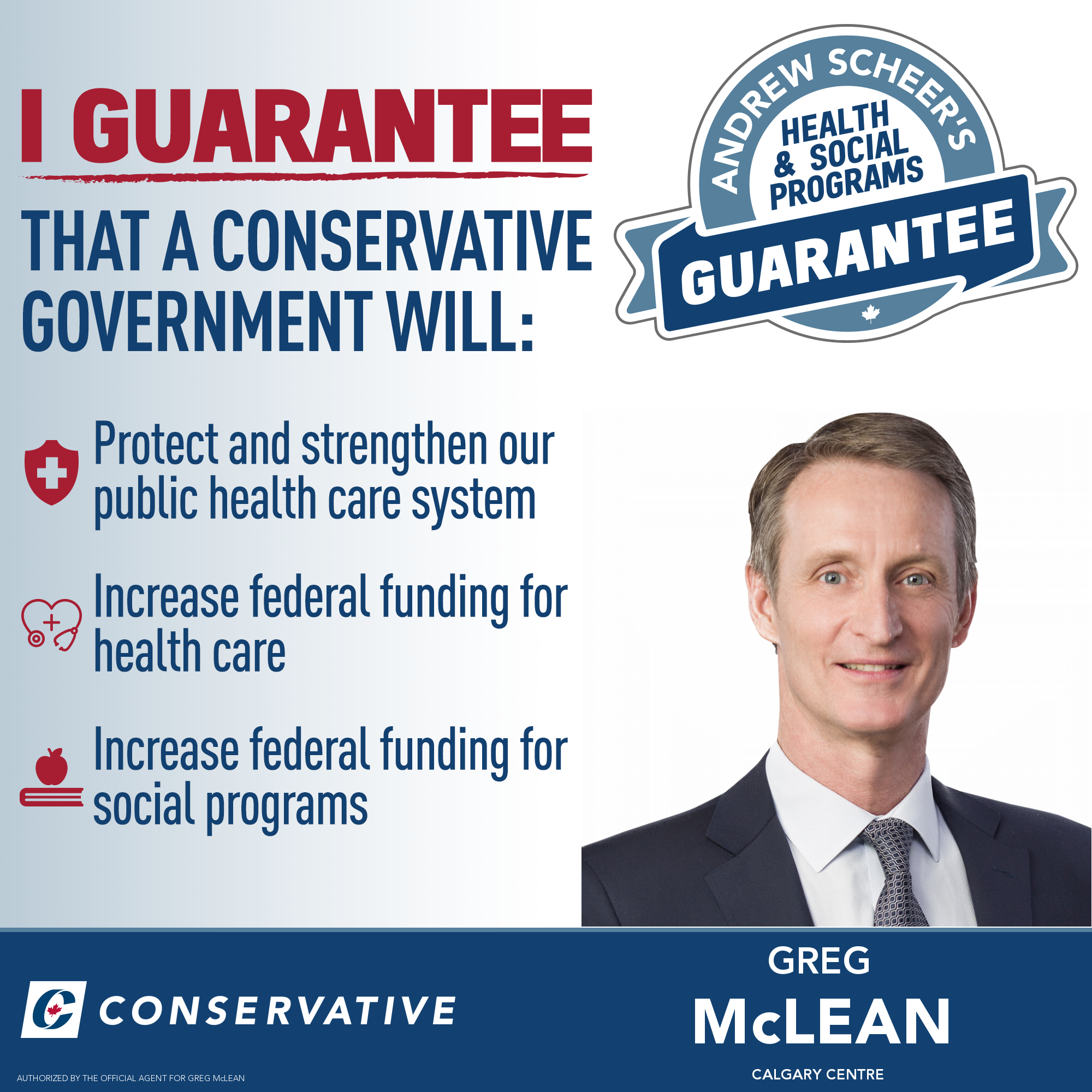 The Conservative Party has committed to increasing health care and social service funding by 3% year if elected. I expect our opponents will accuse us of planning to cut health care & social services. Here is the guarantee that we will maintain and increase transfers to provinces for those services. (BTW, in 2019-20, those transfers amount to $55 Billion!).