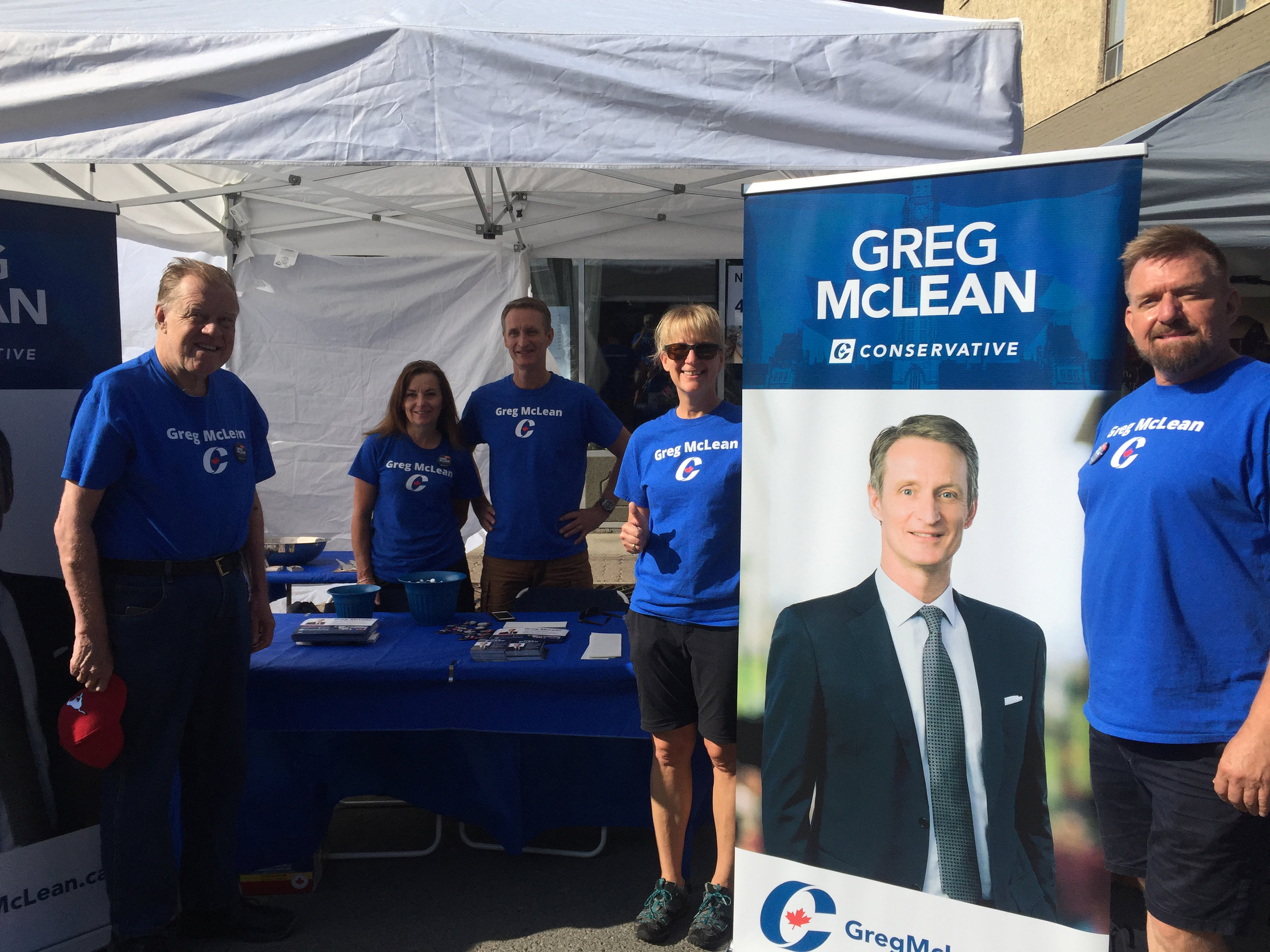 We are all set up and ready to greet people at the Inglewood SunFest today (Saturday August 3) - 9th Ave SE between 11 and 14 Streets.