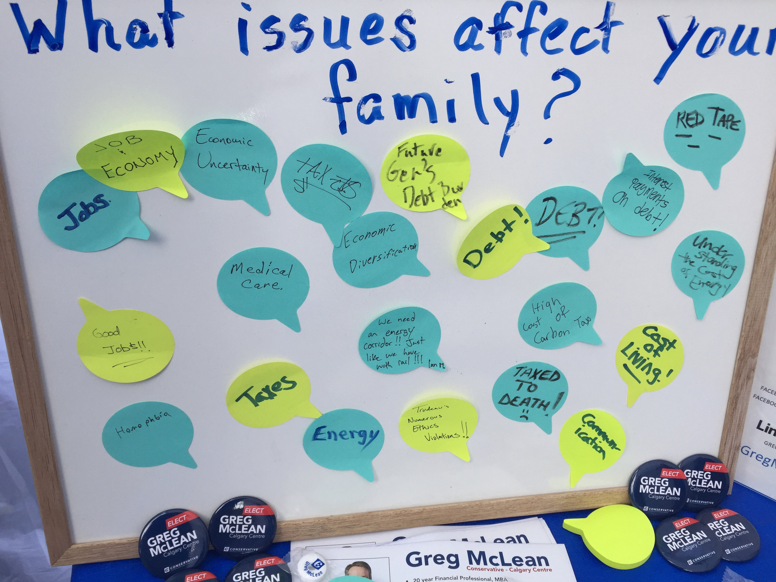 We asked visitors what most concerns them about government/politics these days. Pretty clear what people are worried about.