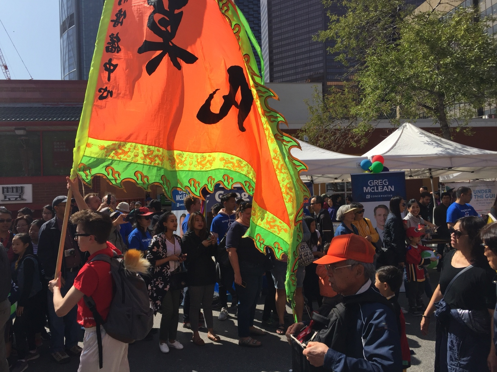 Everyone loves a parade, and our tent had a front row view.