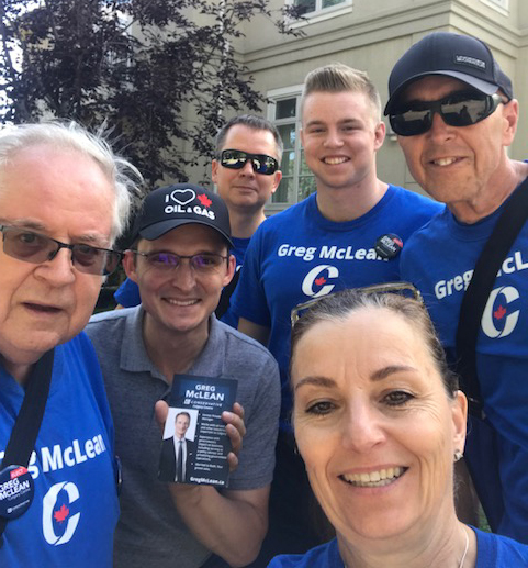 Yesterday (August 18) the team was doorknocking in Elbow Park, accompanied by my (hopefully) future colleague Tom Kmiec, the Member of Parliament for Calgary Shepard. Thanks, Tom, for coming out to help!