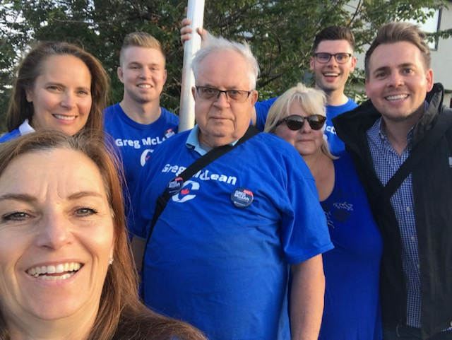 Thank you to Calgary Currie MLA Nicholas Milliken for joining the crew in North Glenmore Park last evening (Aug 20). Thanks also to Tamara Loiselle, who was another contender in the Calgary Centre nomination race and who has been tirelessly helping on my campaign.