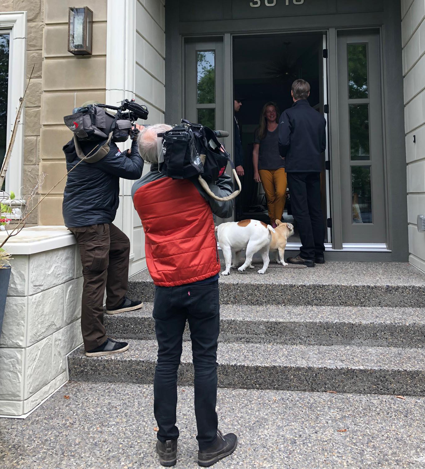 Day One of the official campaign and I had some media accompanying me while doorknocking.