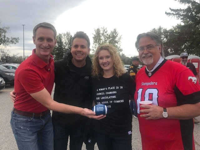 We took a break from doorknocking to go tailgating at the Stamps game.