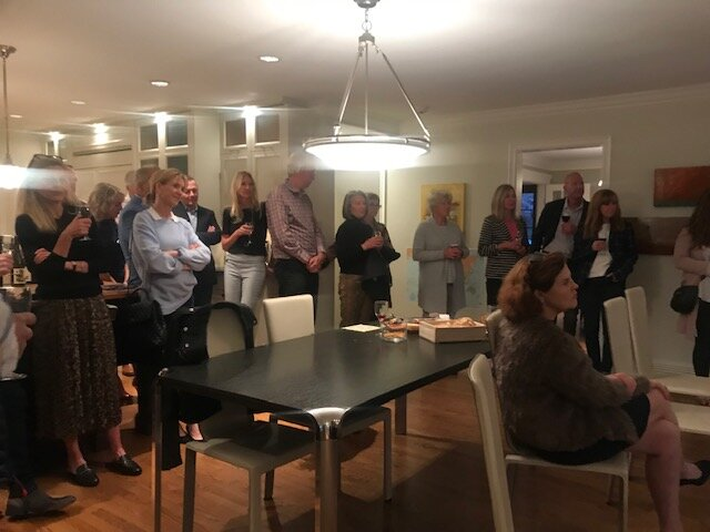 Thanks to supporter Thomas O'Leary for hosting a wine and cheese in his home on September 18.