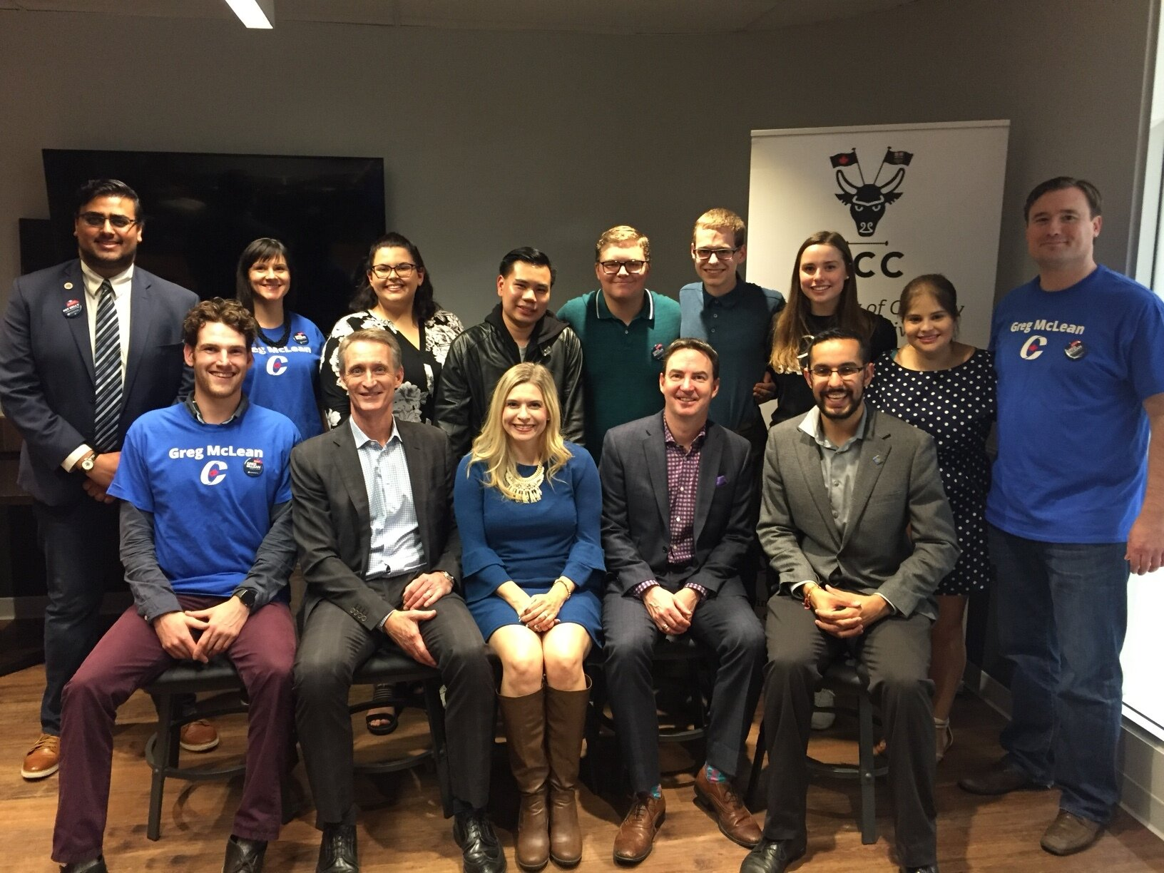 I went to the University of Calgary Conservatives' Big Blue Tent Event on Friday afternoon. Also in the front row there is MP Stephanie Kusie (Calgary Midnapore) and MLA Jason Copping (Calgary-Varsity). And a great time was had by all!