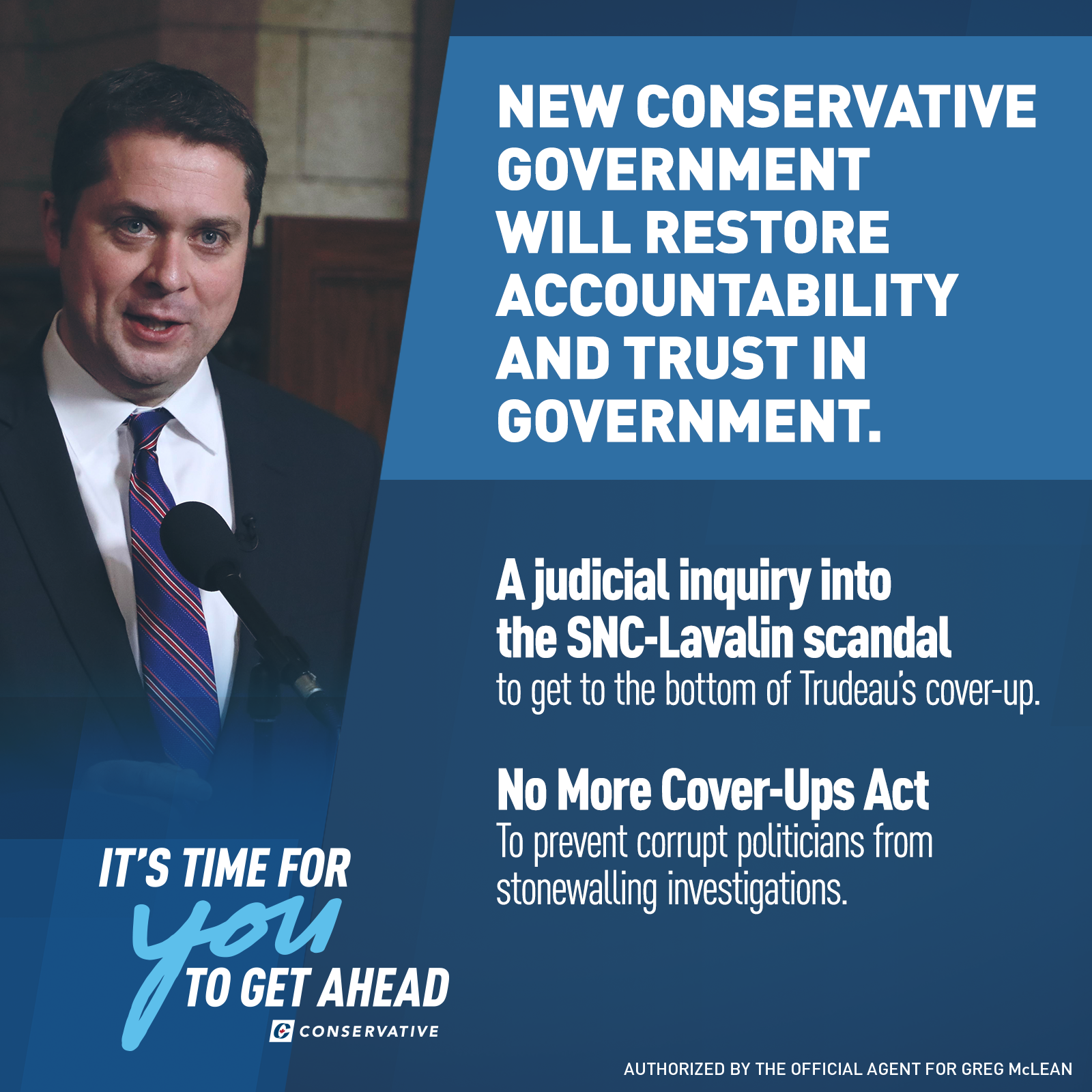 Ethics - · A new Conservative government will launch a judicial inquiry into the SNC-Lavalin corruption scandal to get the answers Canadians deserve.· A new Conservative government will introduce the No More Cover Ups Act to allow the RCMP to access information protected by cabinet confidence by making an application to the Supreme Court of Canada. This will prevent corrupt politicians from hiding behind cabinet confidence to escape police investigation.· We will Amend s. 39 of the Canada Evidence Act to allow the RCMP to make an application to challenge a certificate of Cabinet Confidence during criminal investigations, including those pertaining to the administration of justice. This will cover both obtaining records as well as conducting interviews.· Cabinet confidence is an important feature of cabinet governance, but it should not be absolute. In criminal investigations, this principle must be balanced against the need for police to fully investigate allegations of wrongdoing.