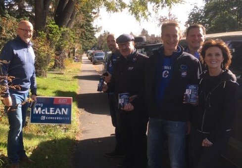Thanks to Alberta Transportation Minister Ric McIver for doorknocking with us on Saturday.