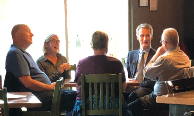 After the All-Candidates' Debate on Sunday afternoon, I relaxed with some constituents in Victoria Park.