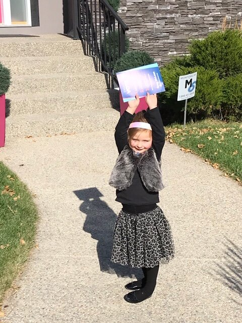 One of my youngest volunteers was proud to complete her flyer delivery route this week. Thanks to mom Lynda for the picture. Happy Thanksgiving everyone.