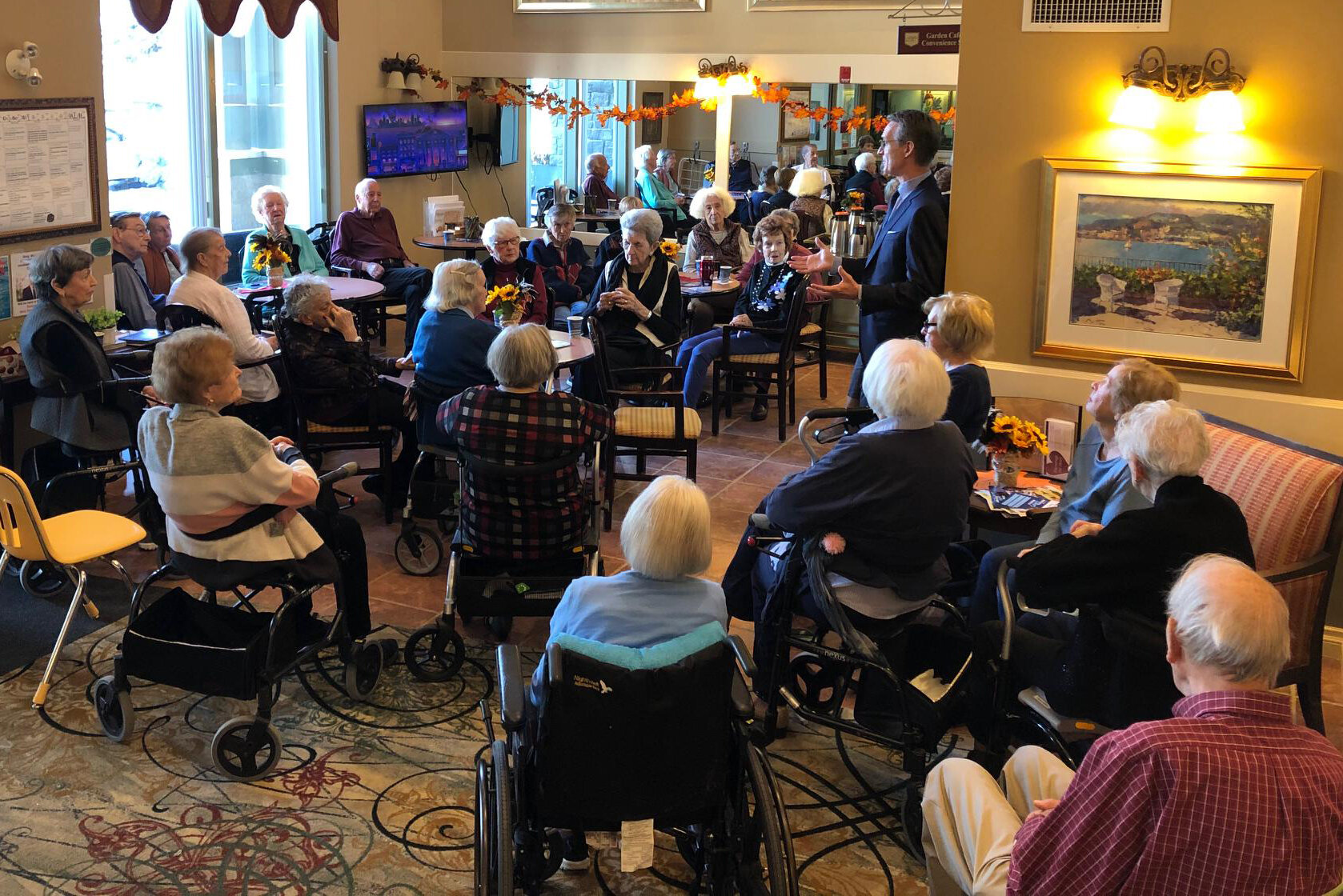 Last week I had the pleasure of talking to the residents of Amica Britannia. I have visited several seniors' residences in Calgary Centre so far, and have a few more to visit this week before the election.