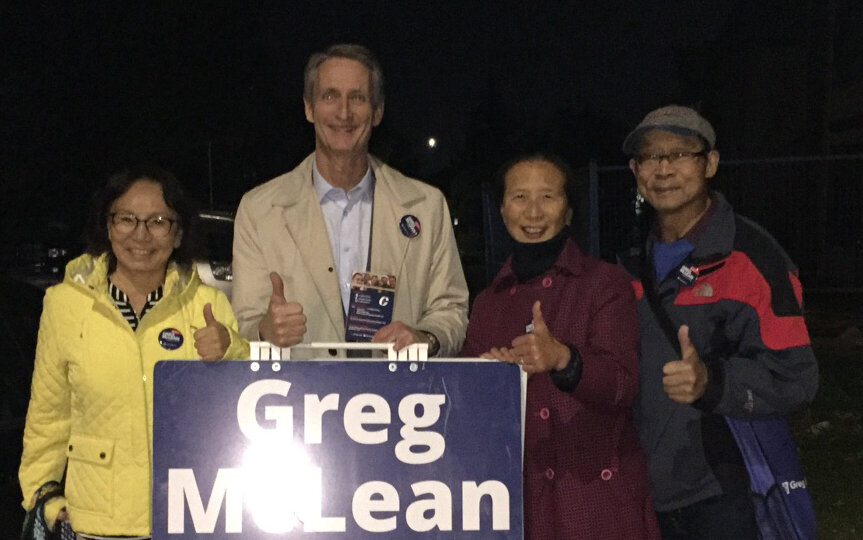 It's getting dark early, but the doorknocking continues on! Nothing more important than knocking on doors. This picture is from Altadore.