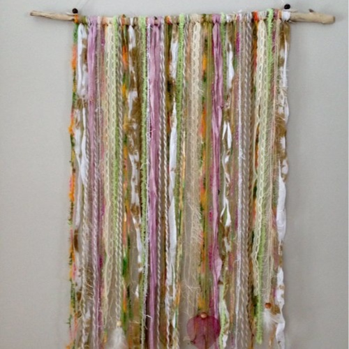 "Fresh Breeze Large Wall Hanging - Is it time to add some color to your world? Are you ready for some fresh color? Start with a water-worn branch collected from the shores of our great lakes, choose fibers from an assortment of colors and textures, then add accents or keep it simple, your choice!The branches are 27""- 32"" wide, the length of fibers up to 36"" (you can make shorter), so take a peek at your walls to choose the best spot for your splash of color. All supplies included (if you have fibers special to you that you would like to include, you are welcome to bring them). Your wall hanging will be ready to hang, bringing ""the serenity of outside in""! Ages 13+, approximately 2 hours.Instructor: Lisa JarrellWorkshop fee: $48 per person, minimum 5, maximum 12"