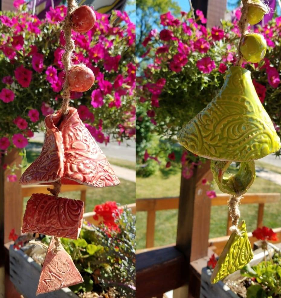 Pottery Bell - Create a bell for your porch, tree or deck!In this workshop, we will be using techniques such as slab rolling, slipping and scoring and adding texture. You can also add embellishments to make it your own unique bell. Once you are finished, the instructor will take them home to glaze and fire them to that they are strong enough to hold up in our Michigan weather. Ages 10+All supplies includedInstructor: Danielle J. Hawkins, DaniJo Hawkins PotteryWorkshop fee: $20 per person, minimum 5, maximum 12